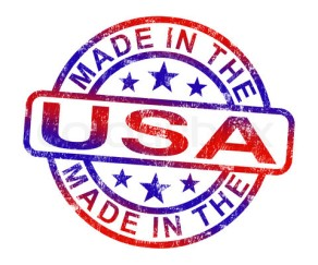 Made In USA Stamp Shows American Products Or Produce